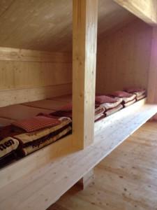 Lager im Winterraum der Hanauer Hütte